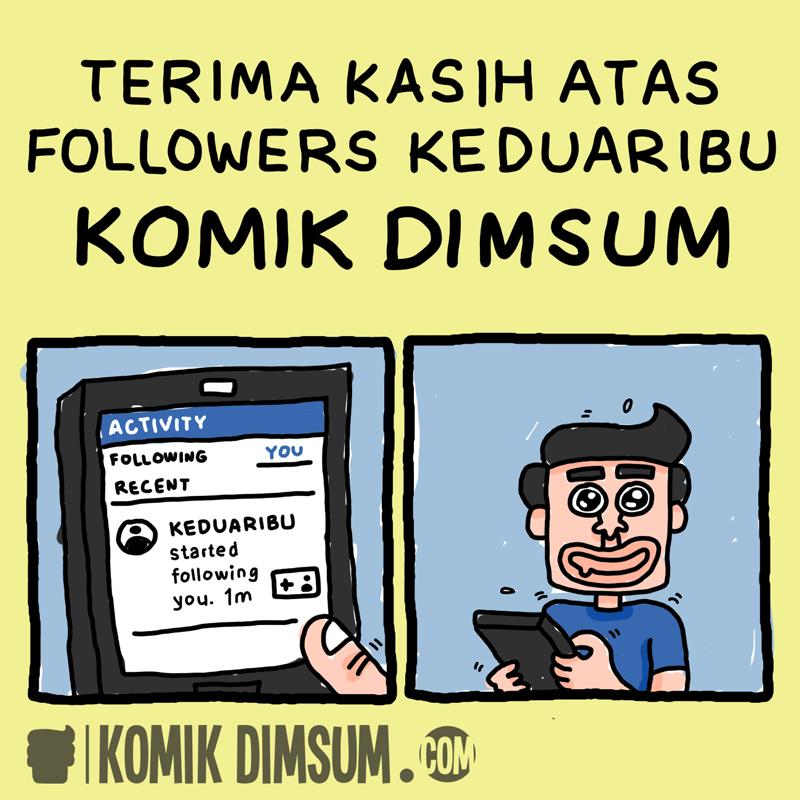 Terima Kasih Followers Ke Duaribu