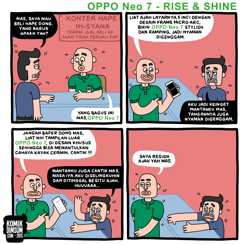 Desain OPPO Neo 7