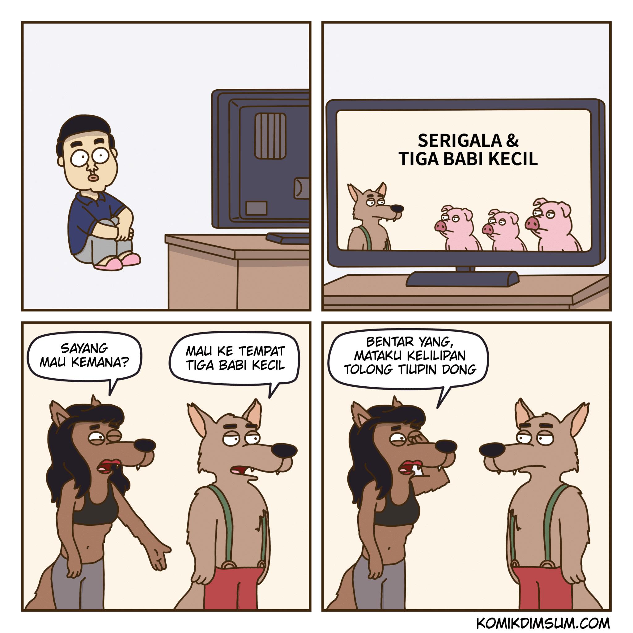 Serigala Dan Tiga Babi Kecil